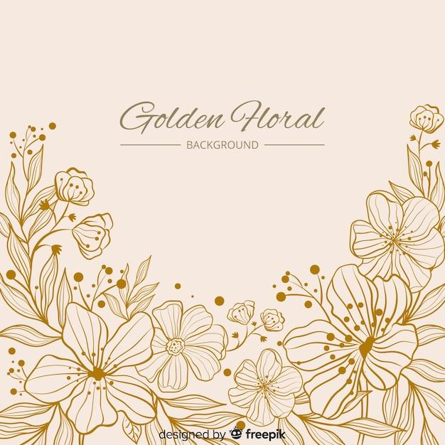Ręcznie rysowane tła kwiatu Darmowych Wektorów