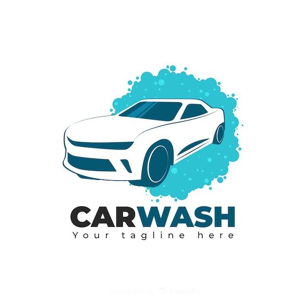 Ręcznie rysowane tła logo myjni samochodowej Darmowych Wektorów