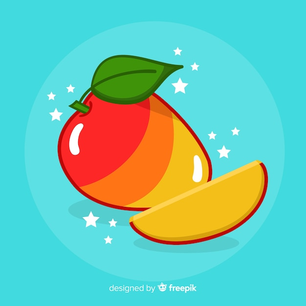 Ręcznie rysowane tła mango Darmowych Wektorów