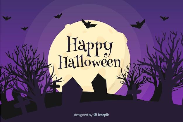 Ręcznie rysowane tła na halloween Darmowych Wektorów