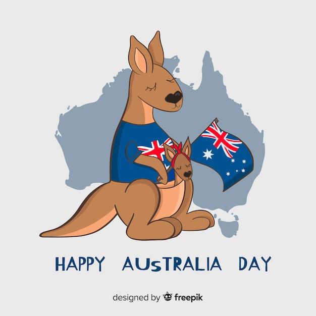 Ręcznie Rysowane Tło Australia Dzień Darmowych Wektorów