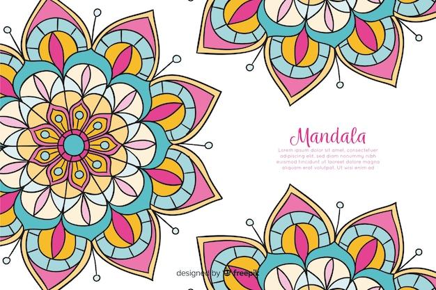 Ręcznie rysowane tło dekoracyjne mandali Darmowych Wektorów