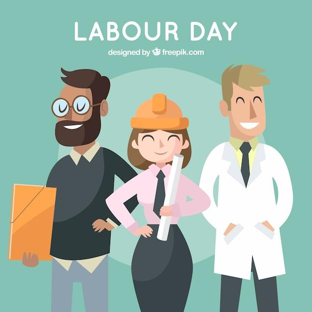 Ręcznie Rysowane Tło Dzień Pracy Darmowych Wektorów