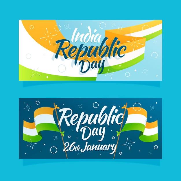 Ręcznie Rysowane Transparent Dzień Republiki Darmowych Wektorów