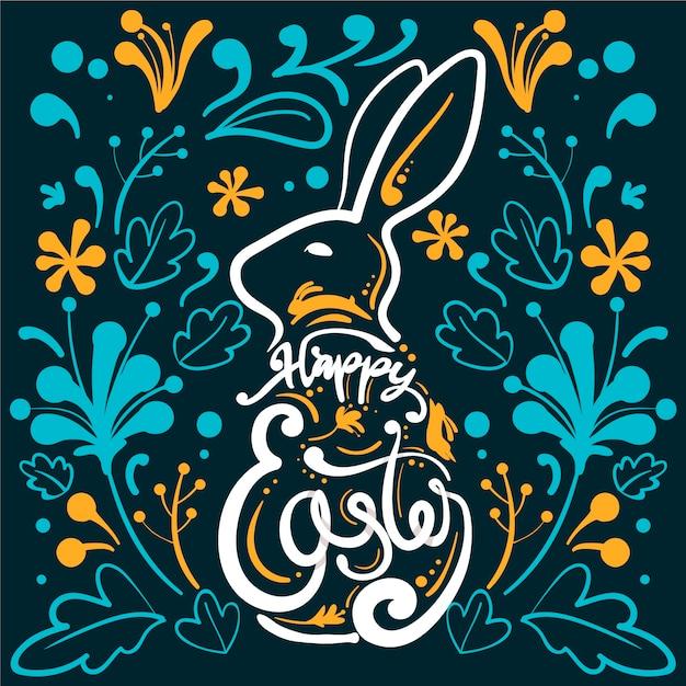 Ręcznie Rysowane Wielkanoc Z Streszczenie Darmowych Wektorów
