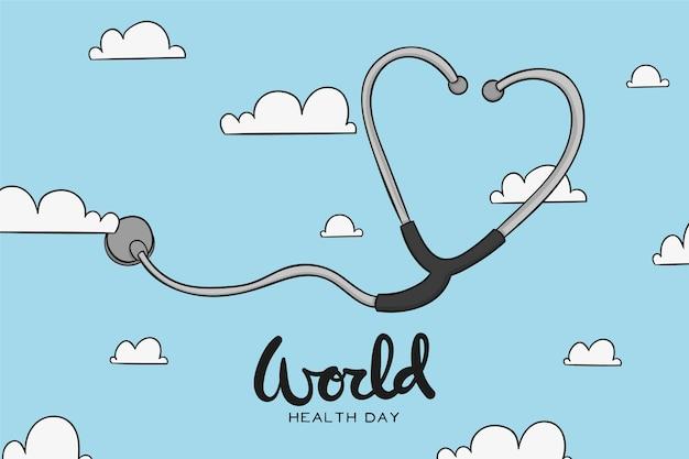 Ręcznie Rysowane Wydarzenie światowego Dnia Zdrowia Darmowych Wektorów