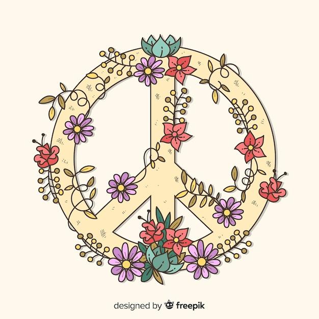 Ręcznie Rysowane Znak Pokoju Darmowych Wektorów