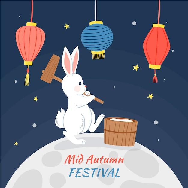 Ręcznie Rysowany Festiwal W Połowie Jesieni Premium Wektorów