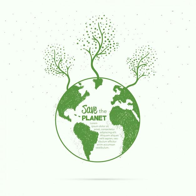 Ręcznie Szkicowane Tła Ziemi Darmowych Wektorów