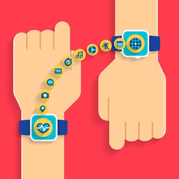 Ręczny Smartwatch Premium Wektorów