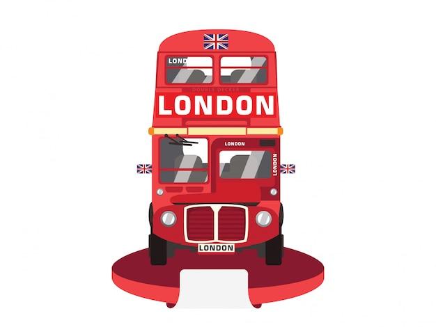Red double decker bus Premium Wektorów
