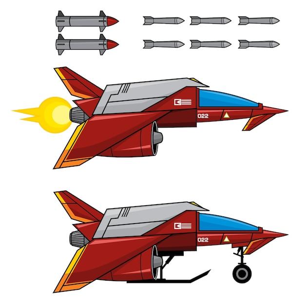 Red space fighter Premium Wektorów