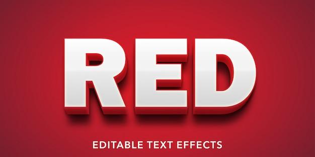 Red Text Edytowalny Efekt Tekstowy W Stylu 3d Premium Wektorów