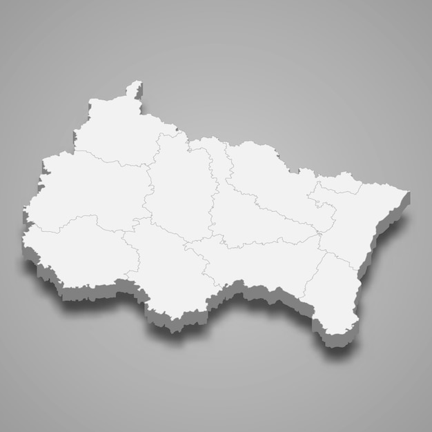 Region Mapy Francji Premium Wektorów