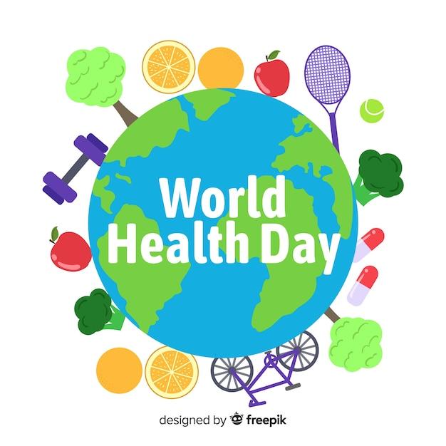 Ręka Rysujący światowego Zdrowia Dnia Tło Darmowych Wektorów