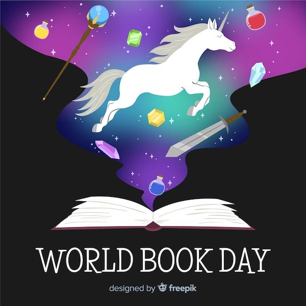 Ręka Rysujący światowy Książkowy Dnia Tło Darmowych Wektorów