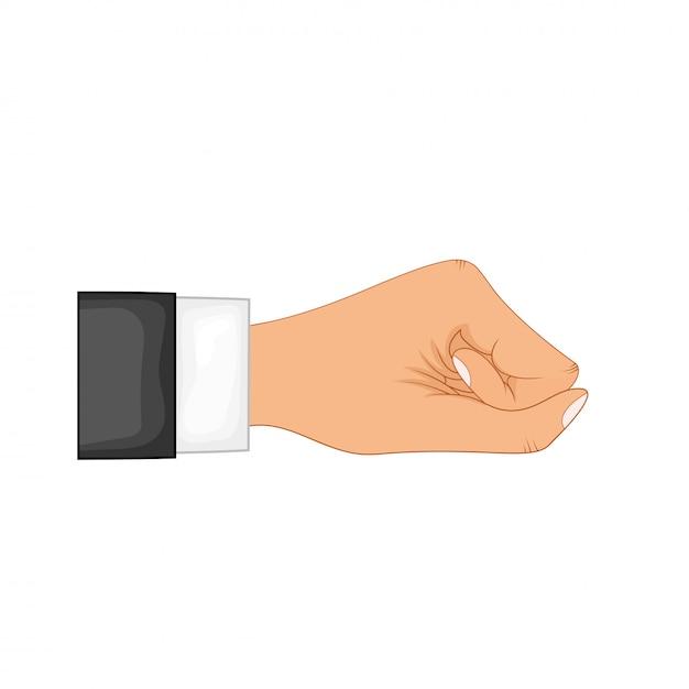 Ręka W Pozie. Ręka Mężczyzny Lub Kobiety W Stylu Cartoon Premium Wektorów