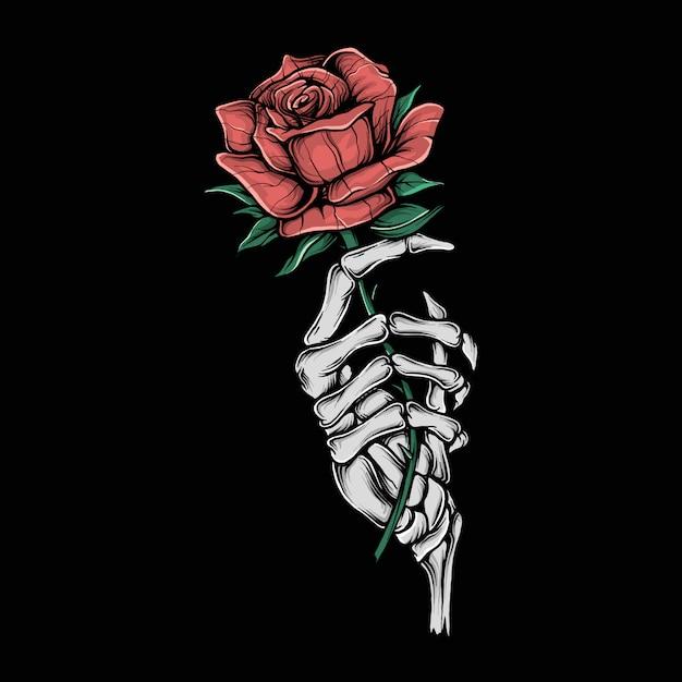 Ręki Mienia Rysunkowego Rocznika Mienia Kwiatu Zredukowana Ilustracja Premium Wektorów