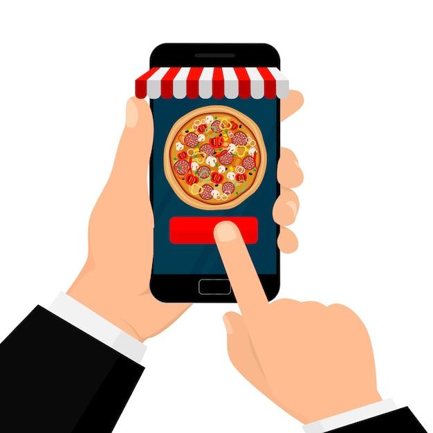 Ręki Mienia Smartphone Odizolowywający Na Bielu Premium Wektorów