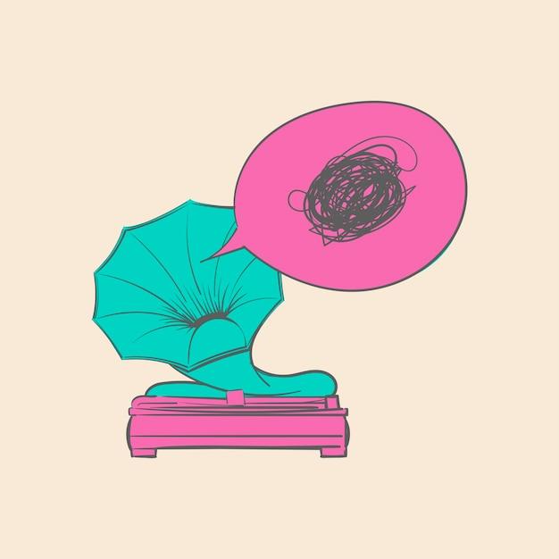 Ręki Rysunkowa Ilustracja Muzyczny Rozrywki Pojęcie Darmowych Wektorów