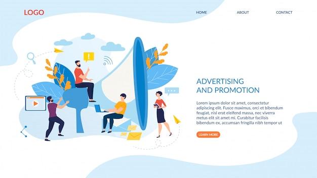 Reklama i promocja napisów plakatowych. Premium Wektorów