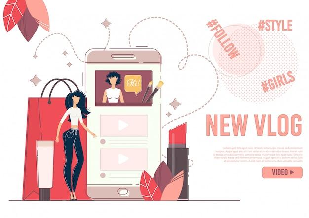 Reklama Nowego Sztandaru Fashion Beauty Premium Wektorów