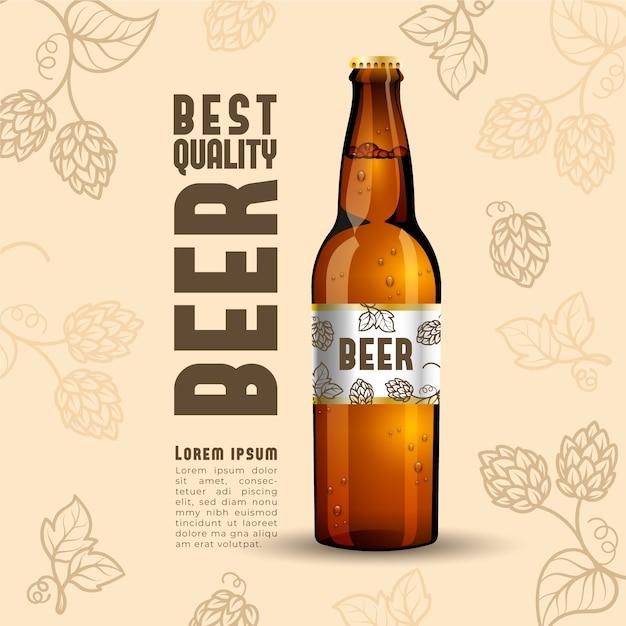 Reklama Piwa Z Rocznika Ilustracji Darmowych Wektorów