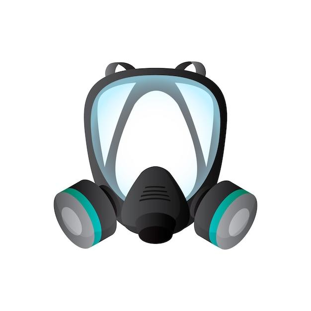 Respirator Z Maską Gazową Premium Wektorów