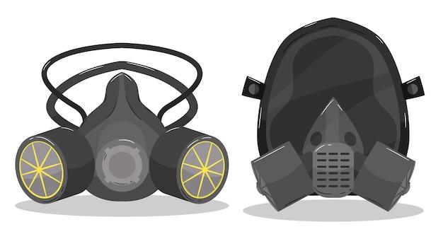 Respirator Z Maską Gazową Darmowych Wektorów