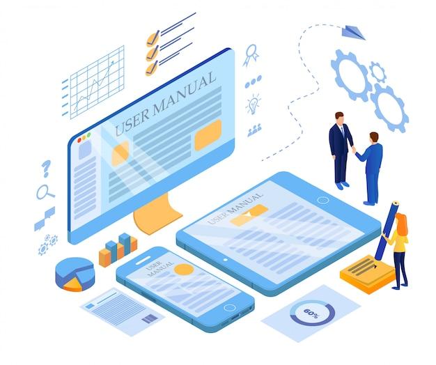 Responsive web design cross platform development Premium Wektorów