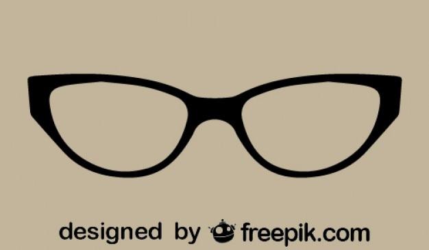 Retro, klasyczne okulary oko kota Darmowych Wektorów