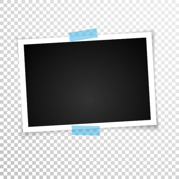 Retro Ramka Na Zdjęcia Z Cieniami. Ilustracja. Premium Wektorów