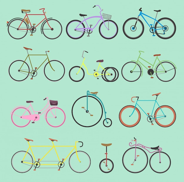 Retro Rower Staromodny Dziewcząt I Hipster Transport Jeździć Pojazdem Rowery Lato Transport Dla Rowerzystów Sport Nowoczesny Cykl Podróży Ulica Ilustracja Na Białym Tle Na Tle Premium Wektorów