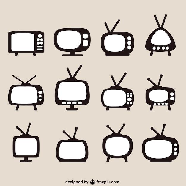 Retro tv ustawia pakiet Darmowych Wektorów