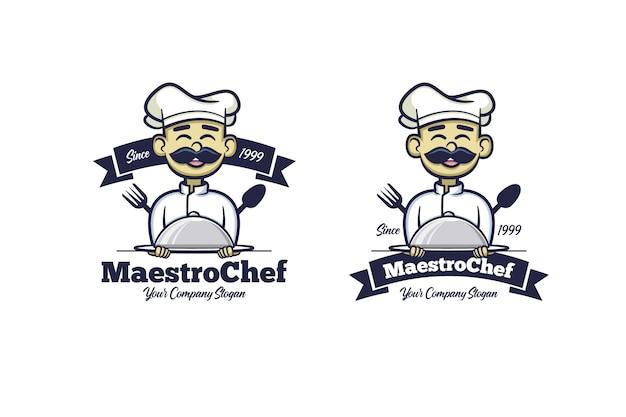 Retro Young Chef Premium Wektorów