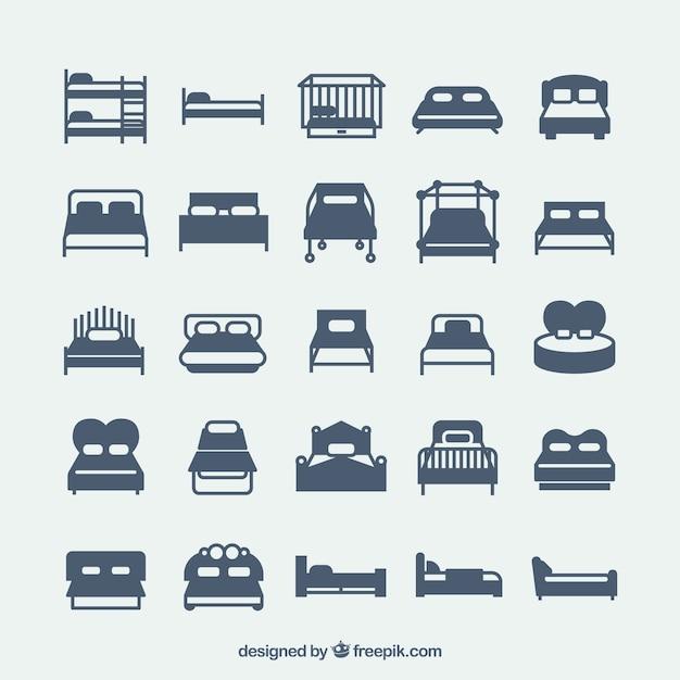 Różnorodność ikony łóżko Wektor | Darmowe pobieranie