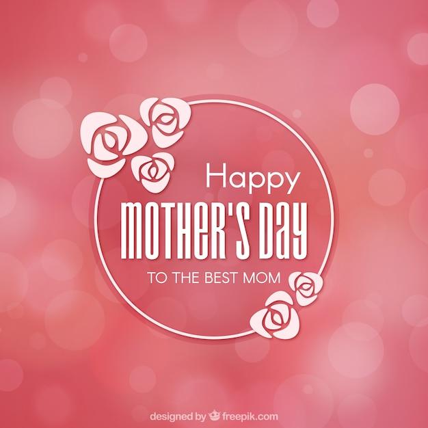 Różowe tło z mocą niewyraźne na dzień matki Darmowych Wektorów