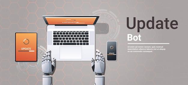 Robot Aktualizujący Urządzenia Cyfrowe Premium Wektorów