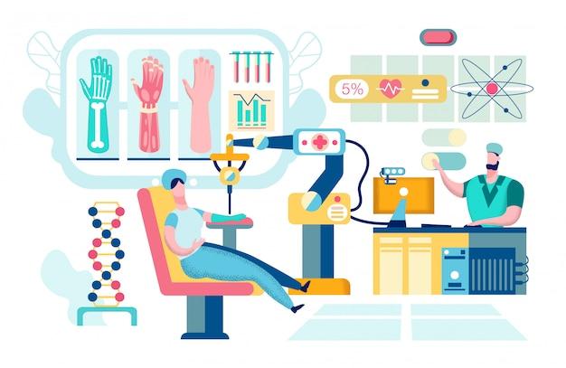 Robotic Nano Technology In Surgery Premium Wektorów