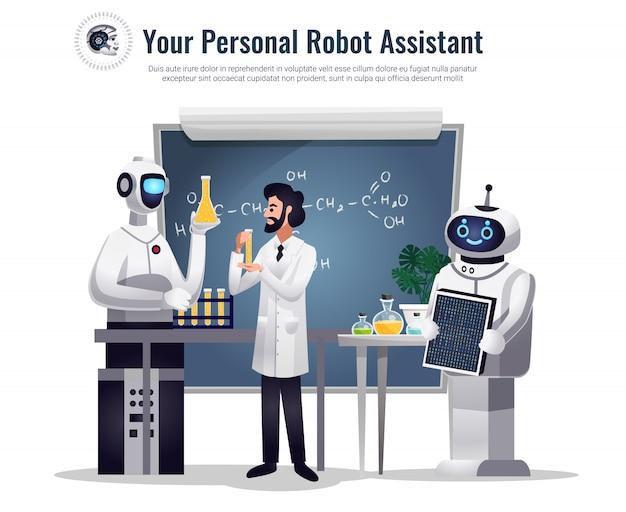 Roboty W Badaniach Naukowych Darmowych Wektorów