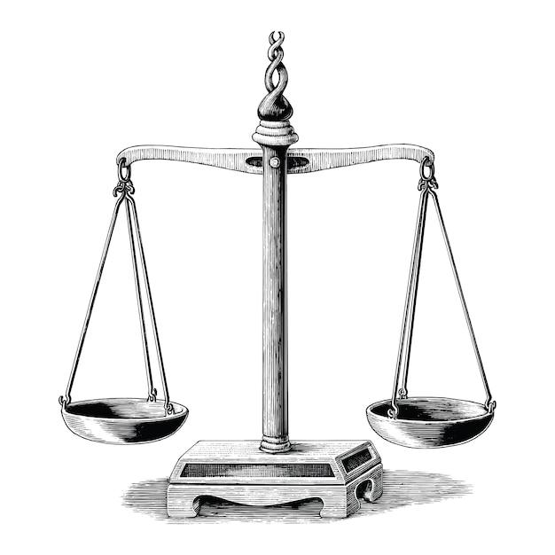 Rocznik Równowagi Ręki Rysunek Odizolowywający Na Białym Tle Premium Wektorów