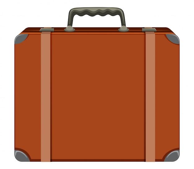 Rocznik walizka na białym tle Darmowych Wektorów