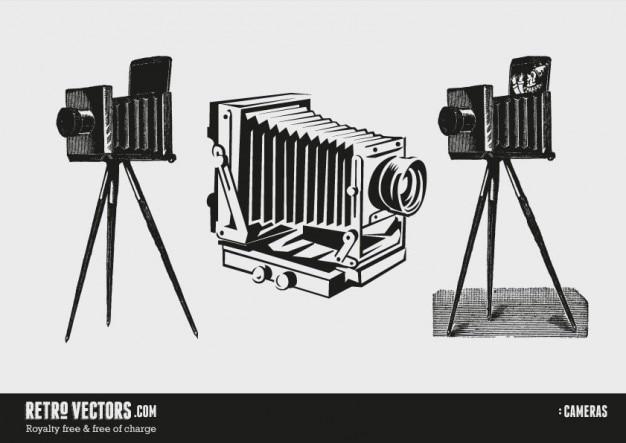 Rocznika Kamery Darmowych Wektorów