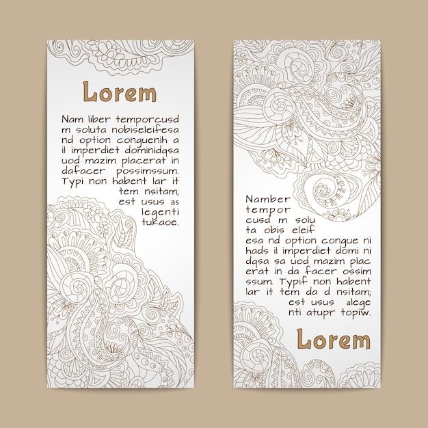 Rocznika koronkowych ornamentacyjnych sztandarów pionowo set odizolowywający Darmowych Wektorów
