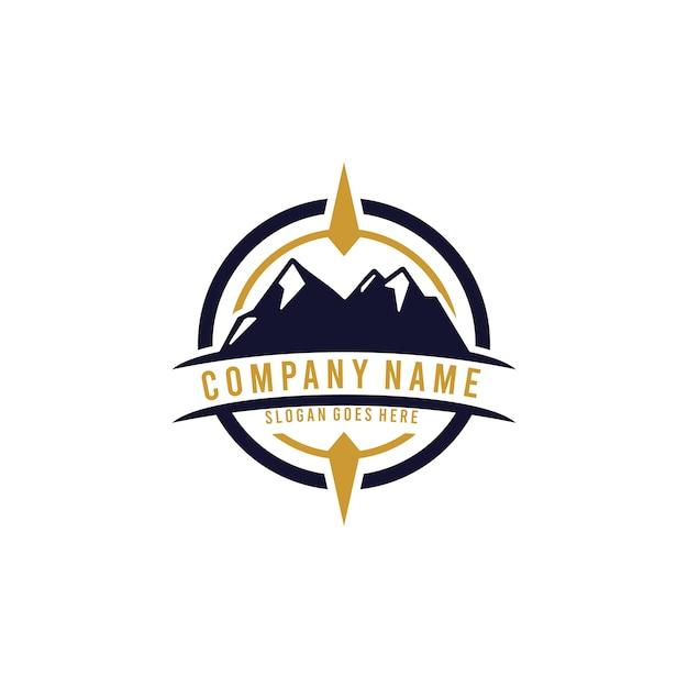 Rocznika logo odkryty szablon Premium Wektorów