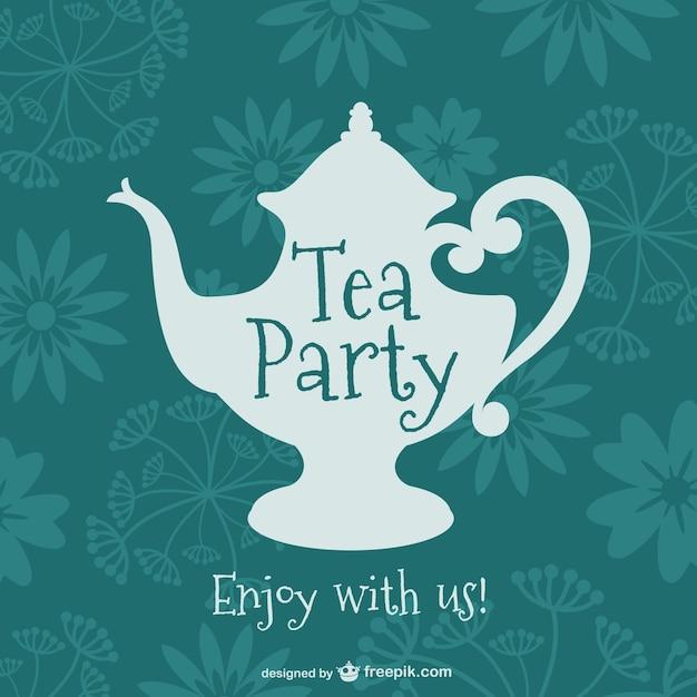 Rocznika Wzór Tea Party Darmowych Wektorów