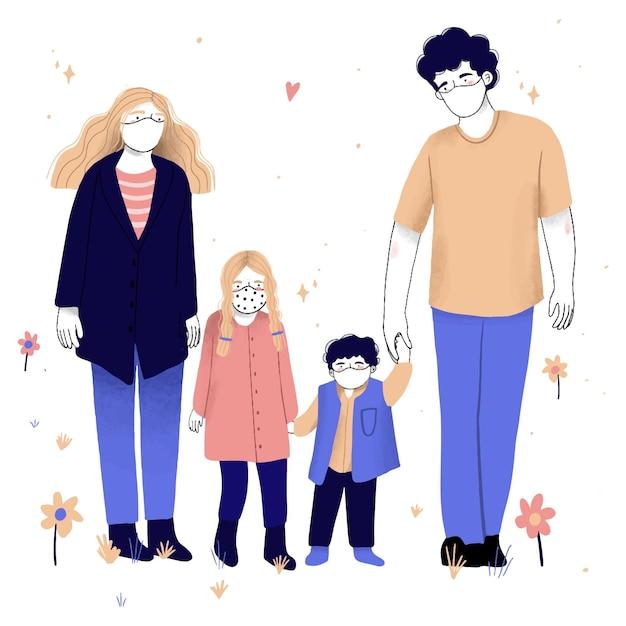 Rodzice Z Dziećmi Darmowych Wektorów