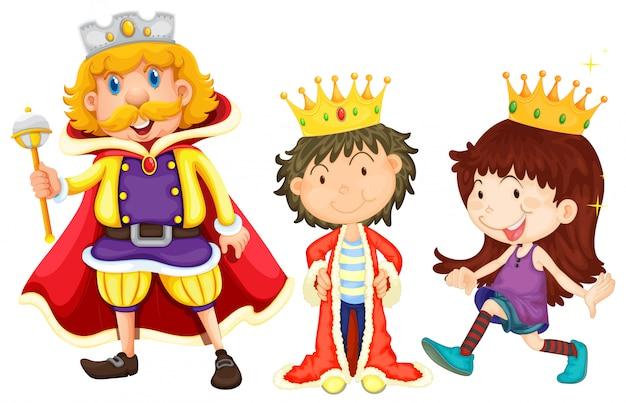 Rodzina królewska Darmowych Wektorów