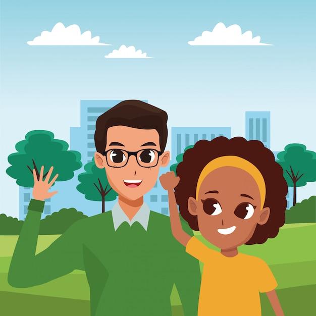 Rodzinne Bajki Dla Rodziców I Dzieci Premium Wektorów