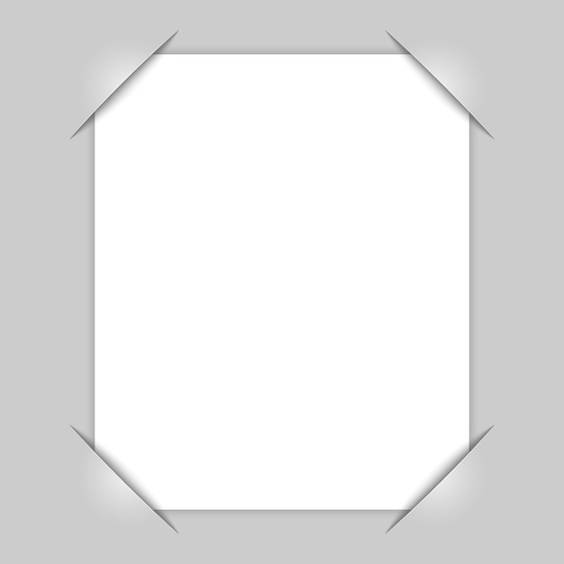 Rogi ramki na zdjęcia Premium Wektorów